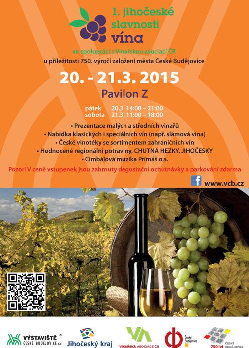 Plakát 1. jihočeské slavnosti vína