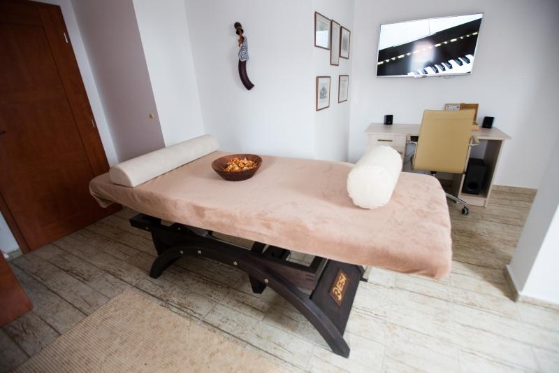Masážní místnost v arálu Pod Světem.
