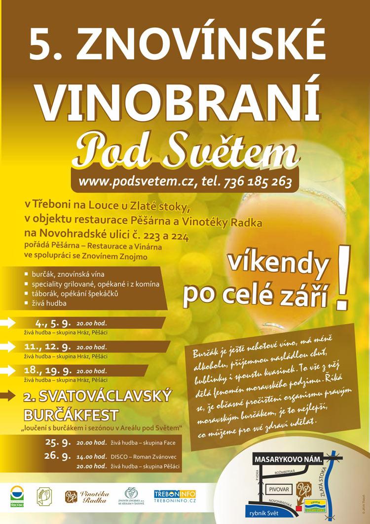 Plakát Vinobraní v Třeboni