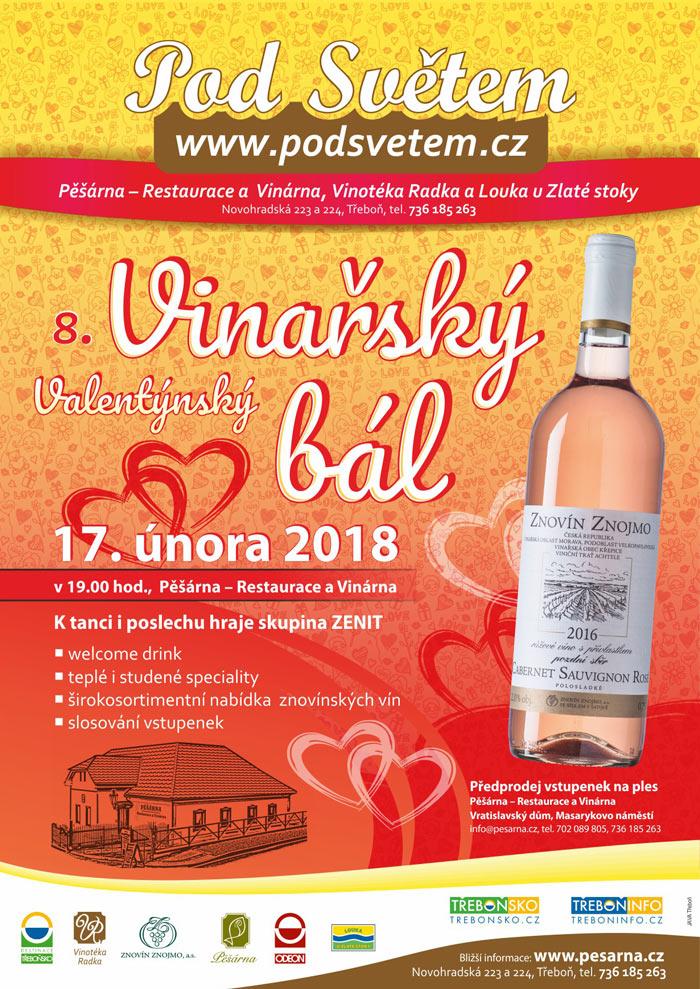 Valentýnský vinařský bál