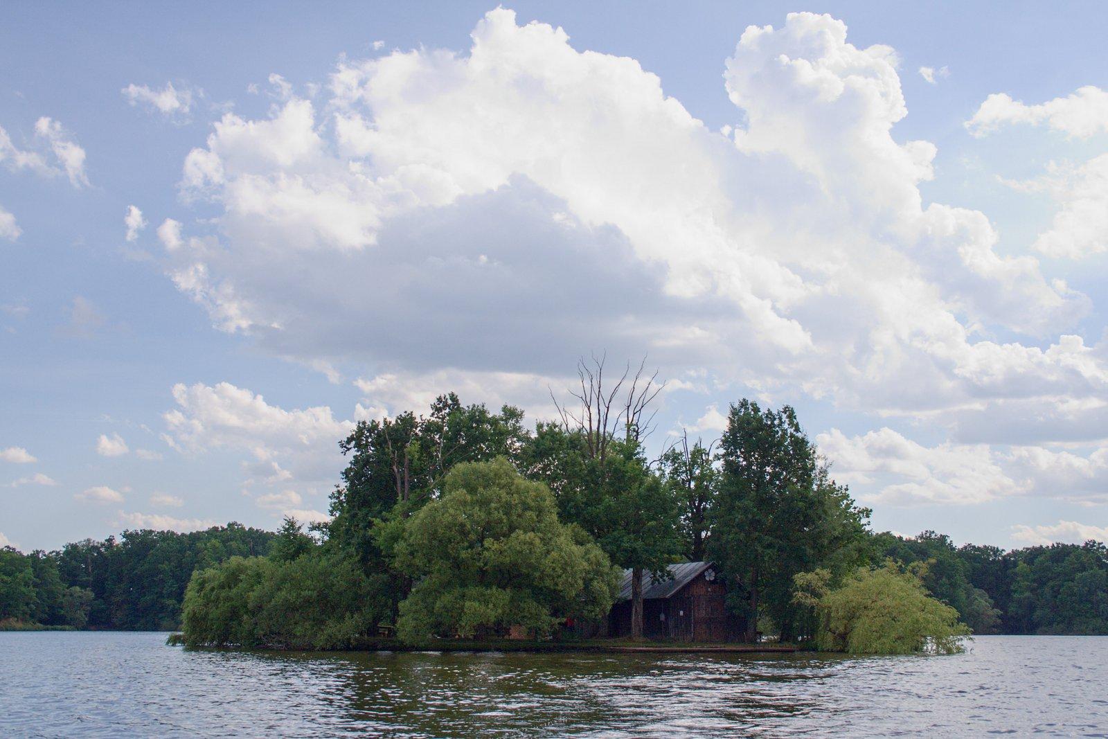 Ostrov rybník Svět