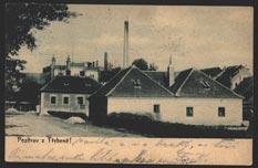 Budova Pěšárny z počátku 20 století.