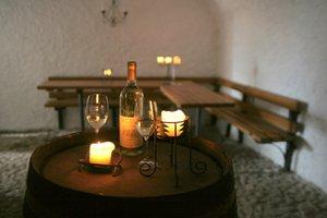 Ochutnávky vína v Krčínově sklípku.